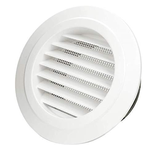 H&L Tech - Rejilla de ventilación de pared redonda de ABS con malla de mosca para cocina y baño, 6inch