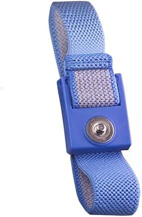 Blue 6 Coil Cord Transforming Technologies WB8037 4 mm Snap Premium Fabric Wrist Strap Set