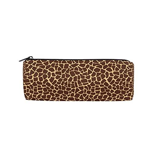 CPYang - Estuche redondo con estampado de jirafa con cremallera, para lápices, cosméticos, maquillaje, escuela, oficina, trabajo, universidad