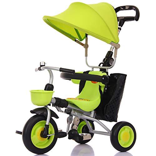 Bébé GUO@ Tricycle en Mousse pour Poussette De pour Enfants Pliables PréVention du Renversement Chariot 1-3-5 Ans
