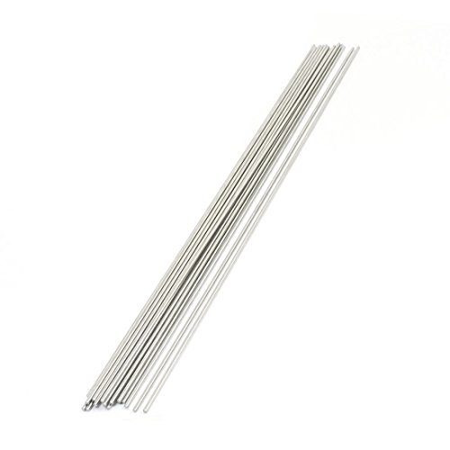 uxcell Stainless Steel Round Bar 20 Piece, 300mm x 2mm
