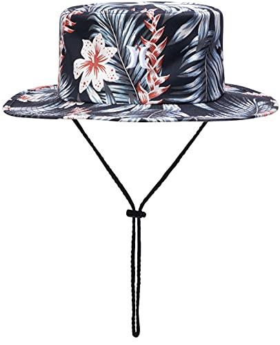 Hurley Men's Vagabond Bucket Sun Hat, Size Small-Medium, Dark Grey