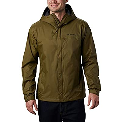 Columbia Men's Watertight II Waterproof, Breathable Rain Jacket, New Olive, Large