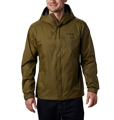 Columbia Men's Watertight II Waterproof, Breathable Rain Jacket, New Olive, 1X