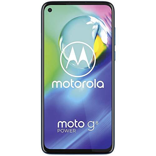 """Motorola Moto G8 Poder w / 5000 mAh da bateria (64 GB, 4 GB) 6.4"""" Dual SIM GSM desbloqueado de fábrica, a Global 4G LTE Versão Internacional (AT & T / T-Mobile / MetroPCS / Cricket / H2O) XT2041-1 (64GB SD + Caso Bundle) Azul"""