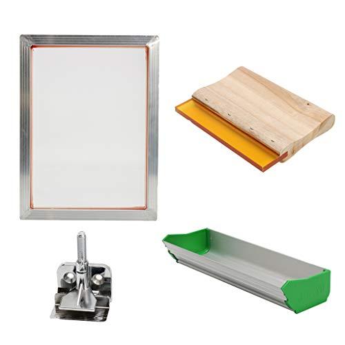 perfk Selber Machen Siebdruck Kit mit Siebdruckrahmen für Papier, Karten, T Shirts