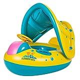 Afashiony Bebé Sombrilla Inflable Anillo de natación Piscina Infantil Coche de Dibujos Animados Natación Flotador Asiento Baño Círculo Anillo Ajustable Juguetes de Verano
