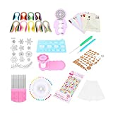 Kit de creación de papel Craft Art-800Pcs Quilling Strips 5 mm Slotted Pen Tweezers