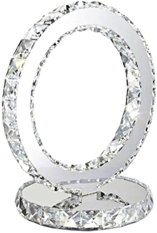Nachttischlampe Schlafzimmer Dimmable Kristall LED Tischlampe Moderne Garten Tischlampe (Farbe   Silber, Gre   30  26cm)