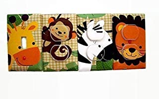Jungle Buddies Animals Switch Plate Cover and Outlet Covers (Set 4)