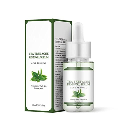 Óleo de árvore do chá de 30 ml, sérum antiespinhas, sérum antiacne, sérum de árvore do chá, cuidados com a pele contra acne e cuidados faciais para combater manchas na pele