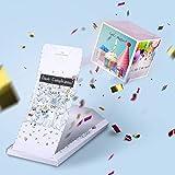 «BOOM!»Biglietto di auguri - Buon Сompleanno, Carta con sorpresa esplosiva. Divertente idea regalo per amici/amiche, fidanzati lui e lei.
