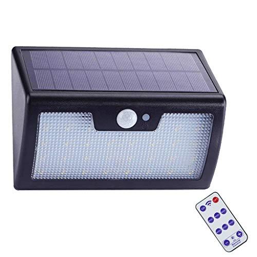 Éclairage Sécurité avec Détecteur Mouvement, Plein Air 40 LED Lumière Du Jour Blanche Imperméable Lampe Solaire Murale avec Télécommande Projecteur pour Jardin Garage Sentier Éclairage Extérieur