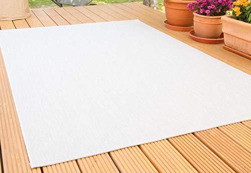 In- und Outdoor Teppich Gotland | für Balkon, Terrasse und Küche | Strapazierfähig und wasserfest | in Beige, Größe: 200x250 cm