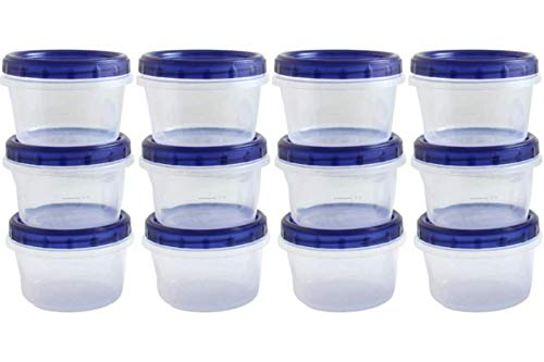 Twist Top Food Deli Containers Screw And Seal Lid 16 Oz Stackable Reusable Plastic Storage Container 12 Pack
