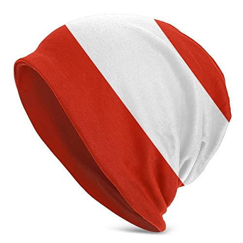 Mens Womens Knit Beanies Hats Striped Austria Flag Adult Warm Winter Caps