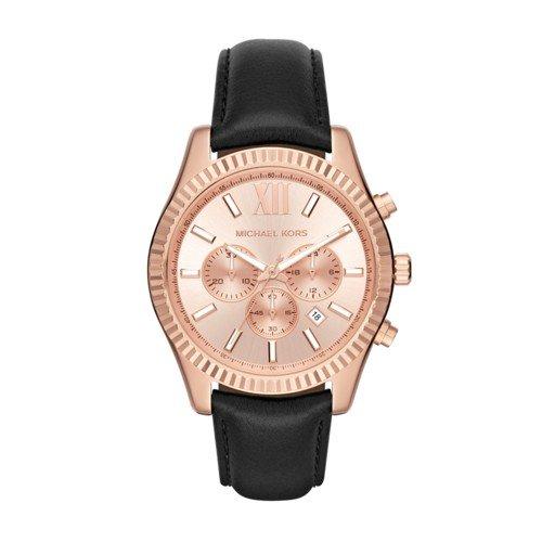 Michael Kors Lexington - Reloj análogico de cuarzo con correa de cuer