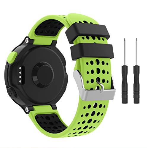 per Garmin Forerunner 235 Cinturino, Accessori Morbido Cinturino di Ricambio in Silicone Stampa per Garmin Forerunner 220/230/235/620/630/735 Smart Watch