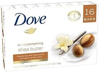 Dove Shea Butter Bar Soap, 3.5 oz Each, 16 Bars