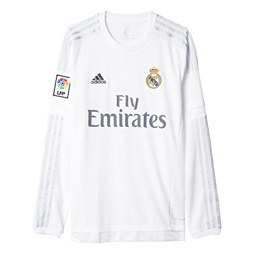 adidas Soccer Replica Jersey: adidas Real Madrid Long Sleeve Home Replica Soccer Jersey 15/16 XL