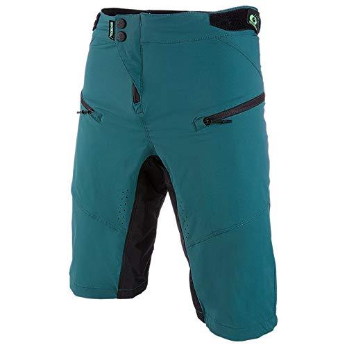 O'NEAL | Mountainbike-Hosen | Mountainbike MTB Downhill BMX | Atmungsaktiv und schnell trocknend, DREI Taschen, Lasergeschnittene Belüftungsöffnungen | PIN IT Shorts | Erwachsene | Grün | Größe 28/44