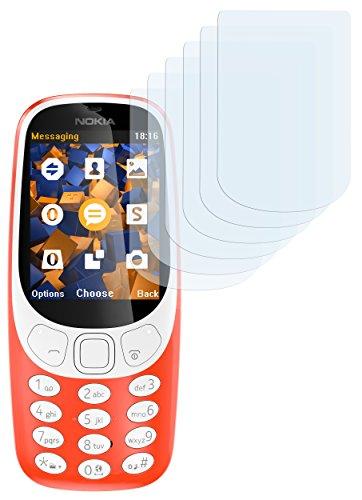 mumbi Schutzfolie kompatibel mit Nokia 3310 Folie klar, Bildschirmschutzfolie (6X)