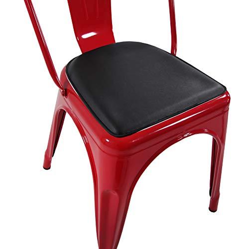 hjh OFFICE 645030 cojín PILOW I magnético negro para silla de bar VANTAGGIO acolchado cómodo
