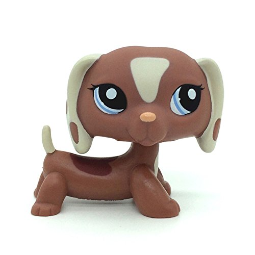 ZAD Rare Brown Tan Dachshund Dog Puppy Figure Toy LPSs #1631