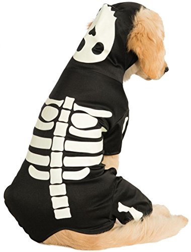 Rubie's, Costume da Halloween per Cani, Design con Scheletro e Cappuccio