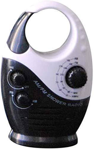 Fayeille Am y Fm Radio Altavoz de Bluetooth Inalámbrico - Mango Radio Altavoz con Inserto Tarjeta, Impermeable Mini Ducha Radio para el Hogar Baño - Blanco y Azul