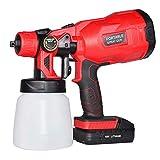 Kacsoo Pistola pulverizadora eléctrica de pintura HVLP inalámbrica, para pulverizar vallas, armarios, paredes y diferentes proyectos de pintura 商品名称