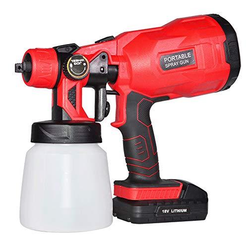 Kacsoo Pistola pulverizadora eléctrica de pintura HVLP inalámbrica, para pulverizar vallas, armarios,...
