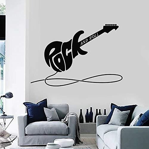Calcomanías de pared de guitarra eléctrica instrumentos de rock pegatinas de vinilo para ventanas sala de música dormitorio de niños adolescentes decoración de interiores