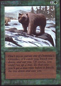 Magic The Gathering - Grizzly Bears - Collectors Edition