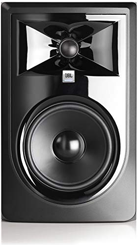 """JBL 305P MkII Powered 5"""" Two-Way Studio Monitors (Pair) with Knox Gear Isolation Pads and Breakout Cable Bundle"""