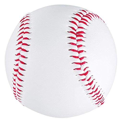Tebery 12 Pack Standard Size Soft Baseballs, Official League Individual Baseball, Unmarked & Soft for Bating Practice
