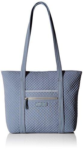 Vera Bradley Women's Microfiber Small Vera Tote Bag, Charcoal