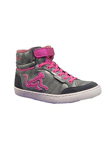 DrunknMunky Boston Rockstar Mädchen High Neck Sneaker, Blau - Mim Blu - Größe: 40 EU