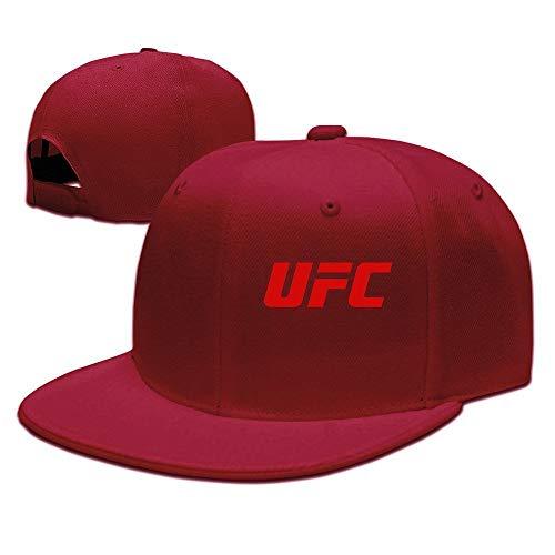 LIU888888 UFC Red Logo Unisex Cool Snapback Hat Vintage Red,Hüte, Mützen & Caps