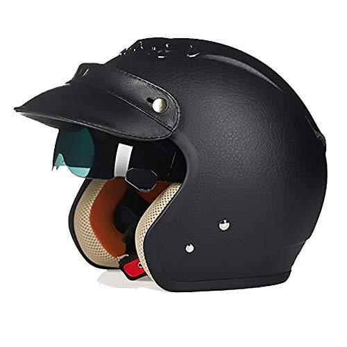 Bxiaoyan Cascos de piel sintética con patrón de ABS para adultos, casco...