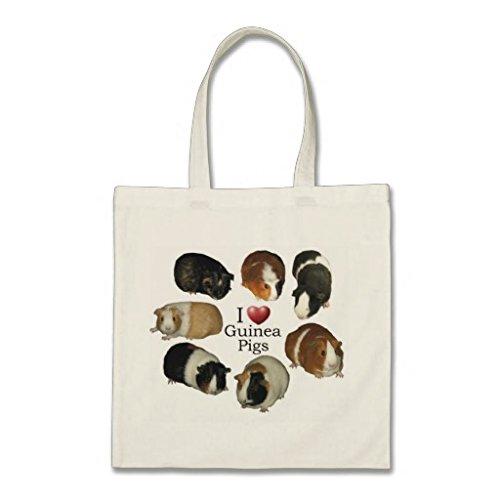 unknow I Love Guinea Cobayas bolsa de la compra, regalo para mujeres, abuelas, mamá, madre