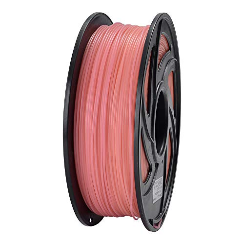 ET PLA 3D Printer Filament, RoHS Compliance,Dimensional Accuracy +/- 0.02 mm, 1 KG Spool, 1.75 mm, Glow in The Dark (Orange)