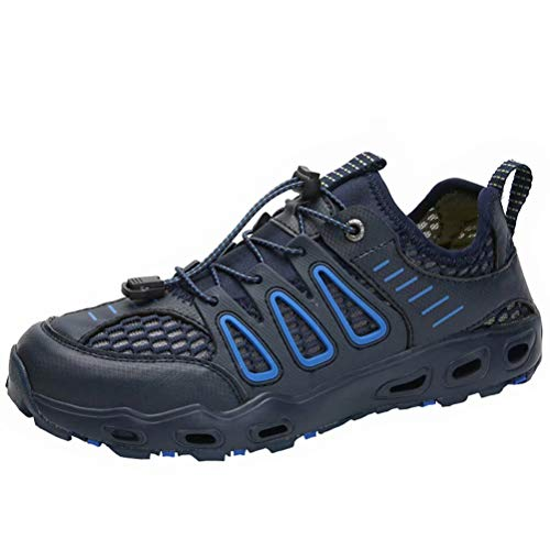 Verano Los Zapatillas de Senderismo Hombre Malla Respirable Slip on Antideslizante Sandalias Aire Libre Zapatos Casuales Zapatos para Correr