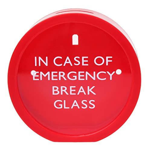 JERKKY Emergency Money Box für den Notfall Glas Neuheit Einsparungen Münze Bank