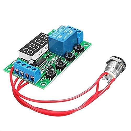 Auoeer Interruptor de botón táctil de temporización de relé del Tablero del módulo - 12V Módulo del retardo de Disparo Externo