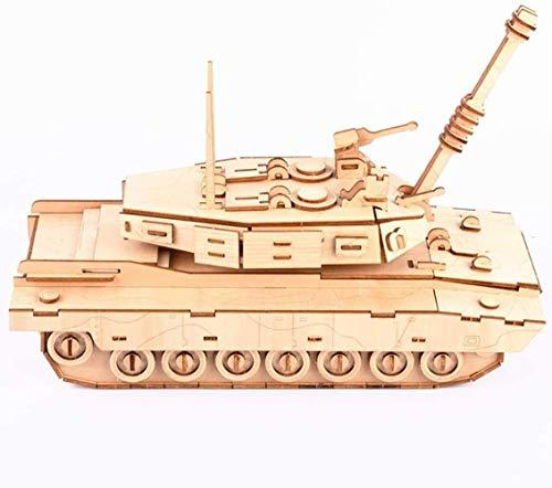 Taoke S-Puzzle Spielzeug-Laserschneiden Puzzle DIY Holz Dreidimensionales Puzzle Versammlungs-Modell Holz-Kampf-Plug-Gewehr-Spielzeug-Bausteine 8bayfa