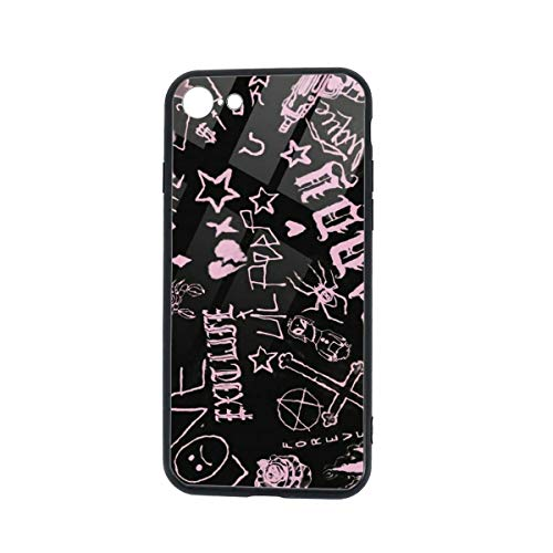 Soft Rubber TPU Glass Phone Cases for iPhone 7 / iPhone 8 Cases