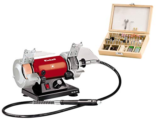 Einhell TH-XG 75 Kit esmeriladora Mini Taladro, 120 W, 230 V, Disco 75x20x10 mm (ref. 4412560)
