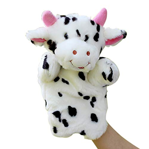 TYY-guang 1pc del Dedo Títeres marioneta Animal del bebé del paño de la Mano para la Educación Historia Felpa Decir de Historia Juguetes Vaca marioneta de Mano