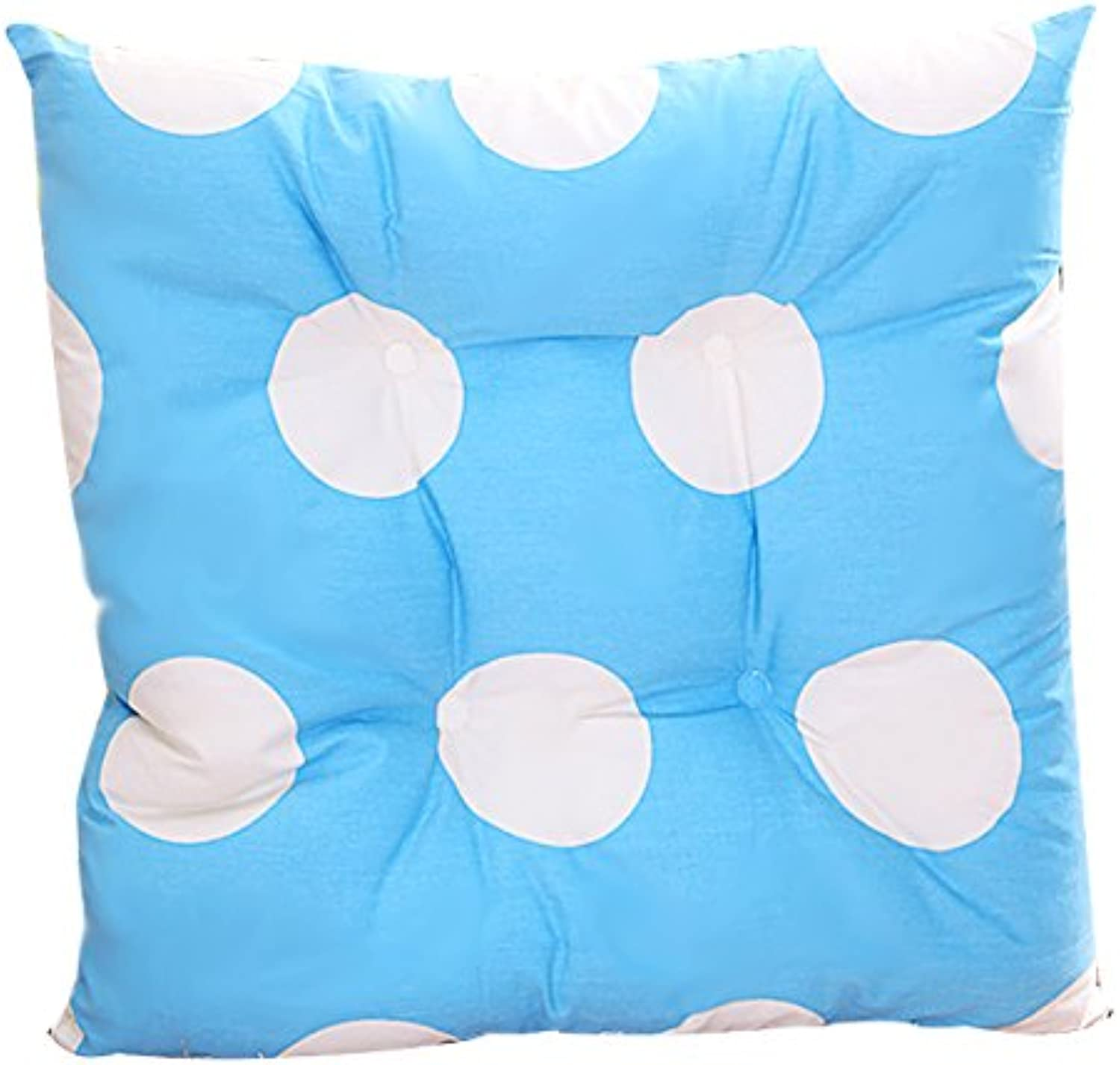 Zuodaongy Thick Candy - colord Cushion Office Table Chair Cushion,43X43Cm,Big bluee Point